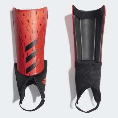 красный Футбольные щитки Predator Match
