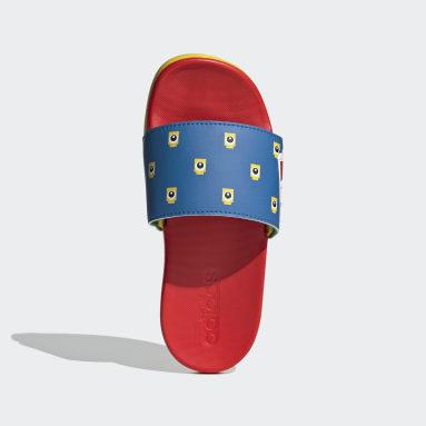 Children Yoga Blue adidas Adilette Comfort x LEGO® Kids Slides