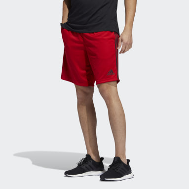 Shorts Malha adidas 3-Stripes AEROREADY Vermelho Homem Training