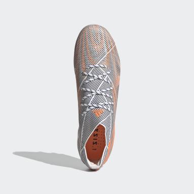 Football White Nemeziz.1 Artificial Grass Boots