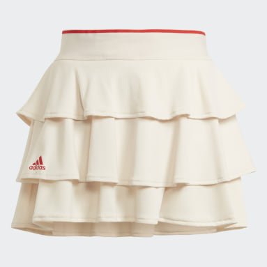 Tennis Pop-Up Skirt Bialy