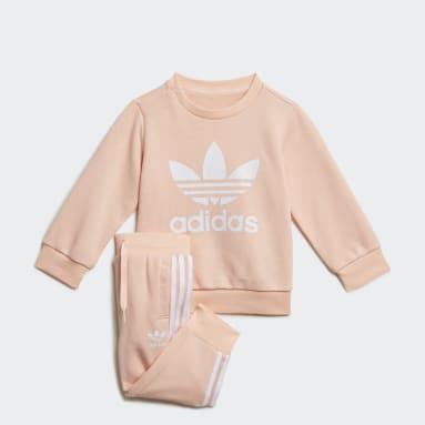 Tuta Crew Sweatshirt Rosa Bambini Originals