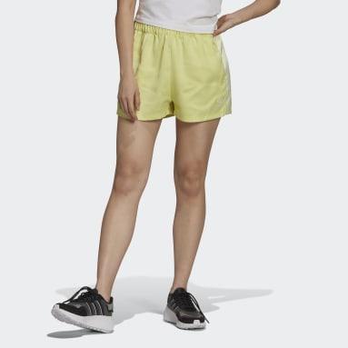 Shorts Adicolor Classics Satén Amarillo Mujer Originals