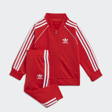 Kinder Originals Adicolor SST Trainingsanzug Rot