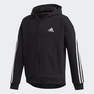 Veste à capuche 3-Stripes Full-Zip Noir Filles Fitness Et Training
