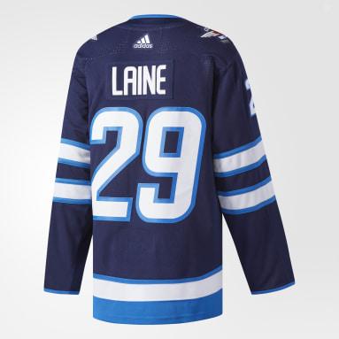Maillot Jets Laine Domicile Authentic Pro Bleu Hockey