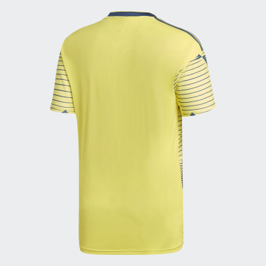 Men Football Yellow Colombia Home Jersey