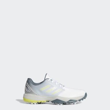 เด็ก กอล์ฟ สีขาว รองเท้ากอล์ฟ ZG21