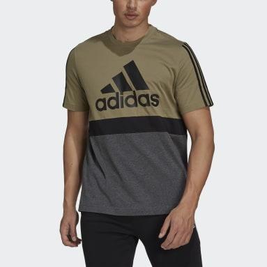Camiseta Essentials Colorblock Verde Hombre Sportswear