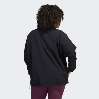 Camisola de Treino Meio Fecho COLD.RDY (Plus Size) Preto Mulher Running