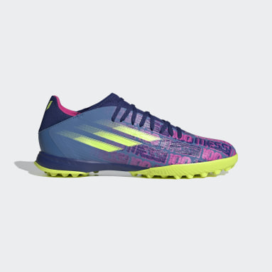 Zapatilla de fútbol X Speedflow Messi.3 moqueta Azul Fútbol