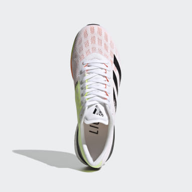 Men's Running White Adizero Boston 9 Shoes