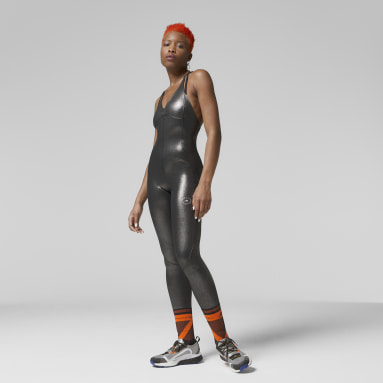 Combinaison adidas by Stella McCartney All-in-One Shiny Argent Femmes adidas by Stella McCartney