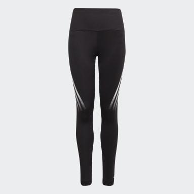 Mädchen Fitness & Training Believe This AEROREADY 3-Stripes High-Rise Stretch Training Tight Schwarz