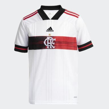 Camisa CR Flamengo 2 Branco Meninos Futebol