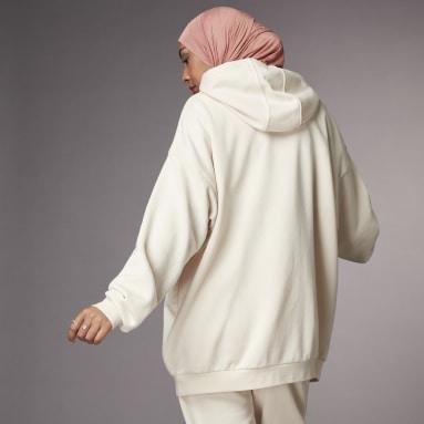 Felpa con cappuccio Hyperglam Oversize Bianco Donna Sportswear