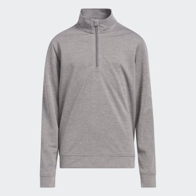 Boys Golf Grey Boys' Heather Quarter-Zip Pullover