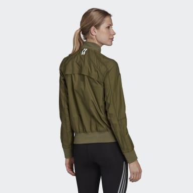 Women's Running Green Primeblue Marathon Running Jacket