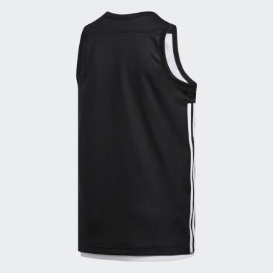 Children Basketball Black 3G Speed Reversible Jersey