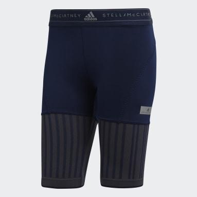 Shorts Run Ultra Flat Knit Mix Azul Mujer adidas by Stella McCartney
