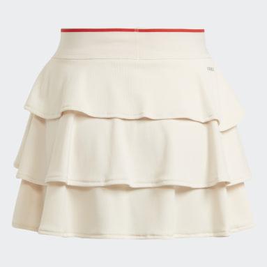 Gonnellino da tennis Pop-Up Bianco Ragazza Tennis