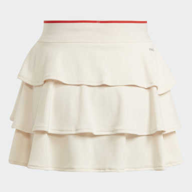 Dívky Tenis bílá Sukně Tennis Pop-Up