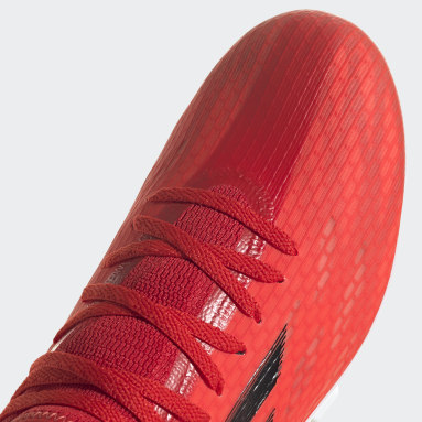 Calzado de Fútbol X Speedflow.3 Terreno Firme Rojo Fútbol