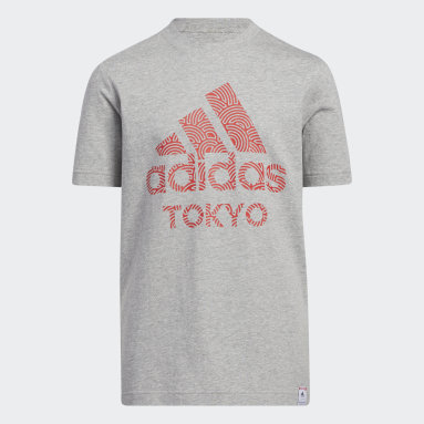Kids 4-8 Years Gym & Training Grey Tokyo Pack T-Shirt