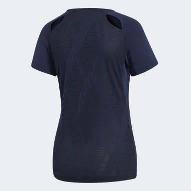 Kvinder Squash Blå Quickset T-shirt