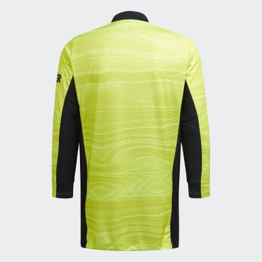 Youth 8-16 Years Football Yellow Manchester United 20/21 Home Goalkeeper Jersey