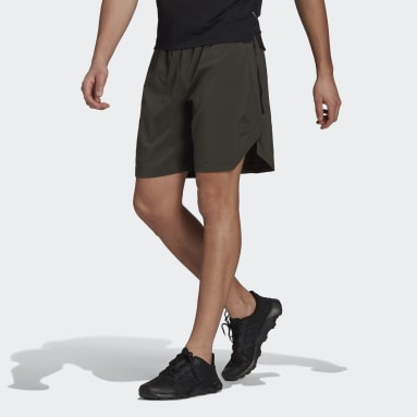 Men's Trail Running Green Agravic All-Around Parley Shorts