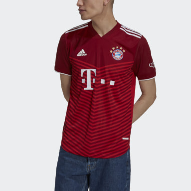 Men's Soccer Red FC Bayern 21/22 Home Authentic Jersey
