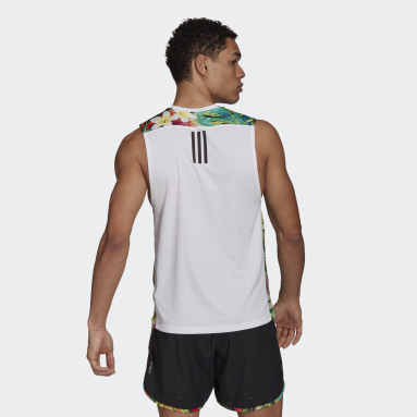 Camiseta sin mangas Own The run Floral Blanco Hombre Running