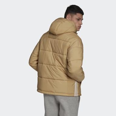 Men Originals Beige Padded Hooded Puffer Jacket