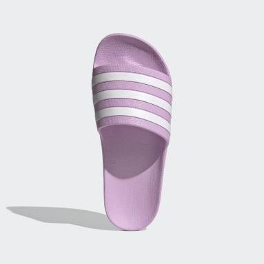 Women's Yoga Purple Adilette Aqua Slides