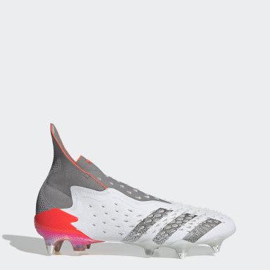 Football White Predator Freak+ Soft Ground Boots