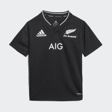 Miniconjunto primera equipación All Blacks Rugby Primeblue Réplica Negro Niño Rugby