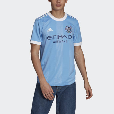 Men's Soccer Blue New York City  FC 21/22 Home Authentic Jersey
