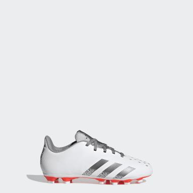 Boys Football White Predator Freak.4 Flexible Ground Boots