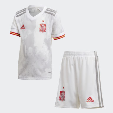 Divisa Mini Away Spain Bianco Bambini Calcio