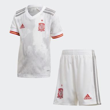 Miniconjunto segunda equipación España Blanco Niño Fútbol