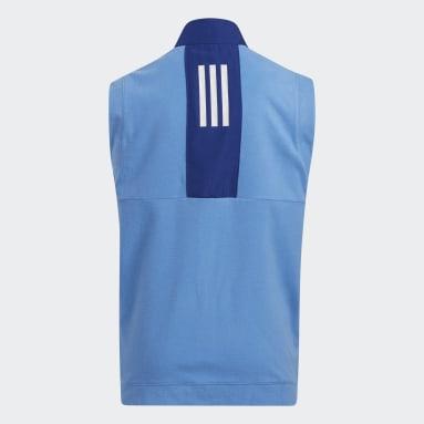 Kids Golf Blue Fleece Primegreen Vest