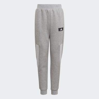Calça Pernas Afuniladas Future Icons 3-Stripes Cinza Meninos Sportswear