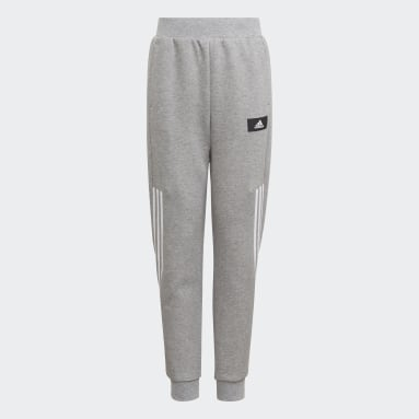 Youth 8-16 Years Sportswear Grey Future Icons 3-Stripes Tapered-Leg Joggers