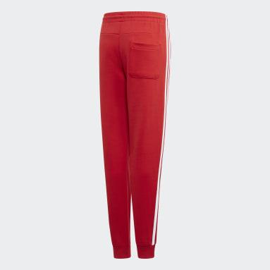 Kluci Cvičení A Trénink červená Kalhoty Must Haves 3-Stripes