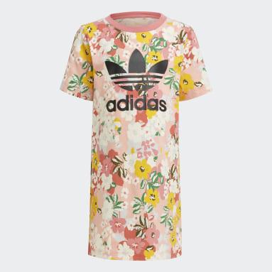 Conjunto vestido y mallas HER Studio London Floral Rosa Niña Originals