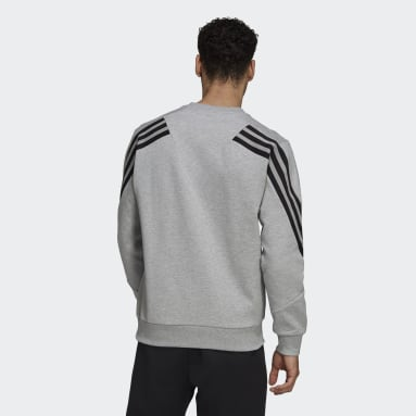 Men Sportswear Grey adidas Sportswear Future Icons 3-Stripes Sweatshirt