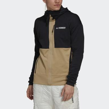 Men's TERREX Black Terrex Tech Flooce Hooded Hiking Fleece Jacket