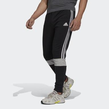 Men's Essentials Black Essentials Fleece Colorblock Pants