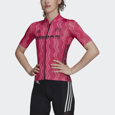 Kvinder Cykling Pink The Short Sleeve Cycling Graphic cykeltrøje